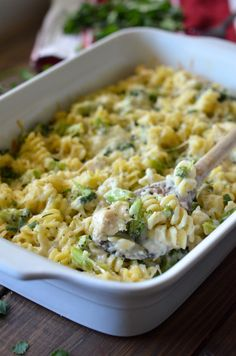 Baked Broccoli Chicken Alfredo