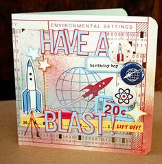 More retro goodness from Two peas in a bucket.  Card by Fevvers