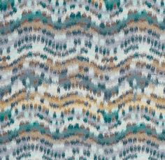 Distant Dawn Fabric A woven watercolour style fabric in turquoise.