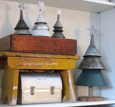 Will definitely have to look for a few vintage funnels to add to my prim decor.  What a great idea!
