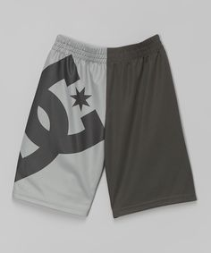 Look at this #zulilyfind! Dark Shadow Logo Color Block Shorts - Boys by DC #zulilyfinds