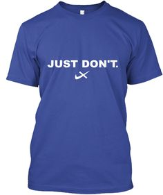 Don't Be Branded By Big Corporations. Deep Royal T-Shirt Front