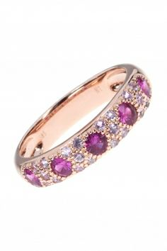 rose gold #ring with gemstones I designed for NEW ONE I NEWONE-SHOP.COM.  wrote a pinner