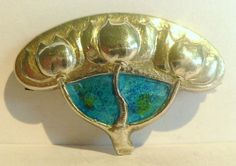 Nouveau Silver & Enamel Cymric Brooch for Liberty attributed to Archibald Knox c1900