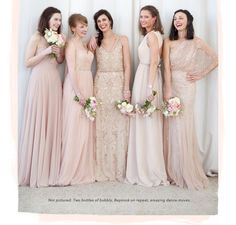 3a94e4c660f1b Light Pink Bridesmaid Dresses, Pink Champagne Bridesmaids, Mismatched Bridesmaid  Dresses, Pink Wedding Dresses