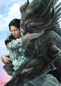 Guzel ve Cirkin Picture  (2d, fan art, beauty, beast, girl, female, woman, love, flowers, face)