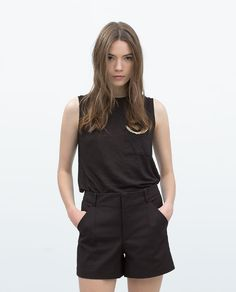 ZARA - WOMAN - CHAIN POCKET T-SHIRT