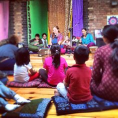 specialyoga.org.uk | Jahnavi Harrison at our Kirtan for Children. #yoga #specialyoga #kirtan #children