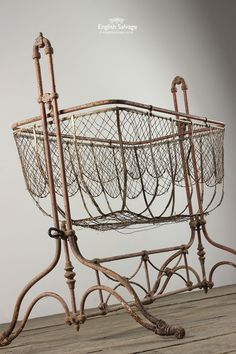 Antique Wirework Cot Crib Cradle Bassinet