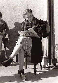 Judy Garland on a break from The Wizard Of Oz..1939.