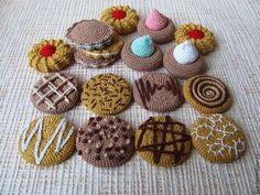 Еда ручной работы. Ярмарка Мастеров - ручная работа Вязаные сладости - печенье, вязаная еда. Handmade.