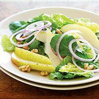 Pear-Walnut Salad by hearthealthyonline #Salad #Pear_Walnut #Healthy