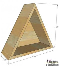 dimensions & DIY info for five different geometric shelves