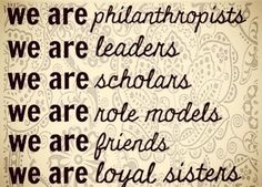 We are sorority women. It is so amazing to see how becoming a sorority woman prepares you for your future in the professional world.