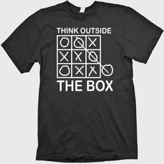 Brand New Men's Funny T-Shirt Think Outside The Box