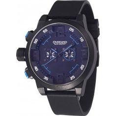 Relógio Esportivo Masculino Oversized Spartan 49mm (Dark+Blue)