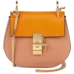 Chloe Drew Small Chain Shoulder Bag (89,095 PHP) ❤ liked on Polyvore featuring bags, handbags, shoulder bags, bolsos, borse, сумки, sand, chain purse, saddle bags and chain shoulder bag