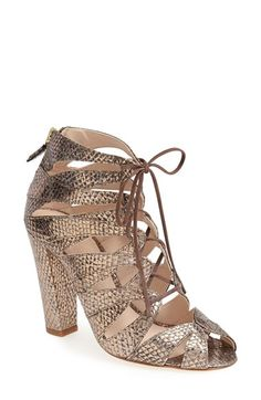 Free shipping and returns on Delman 'Darci' Bootie at Nordstrom.com. Lithe laces cinch the structure of a soft suede bootie set atop a wrapped heel.