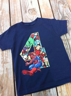 Dylan's Shirt SpiderMan birthday shirt. SpiderMan birthday  by Classyritzybabies, $20.00