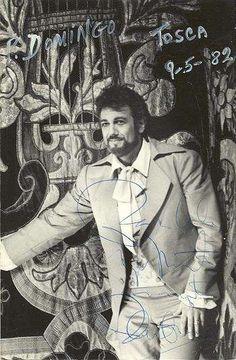 Tenor Placido Domingo in costume for the opera Tosca.