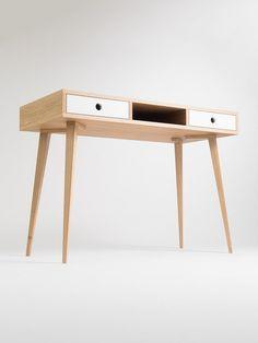 Biurko w stylu skandynawskim, szuflady + wnęka