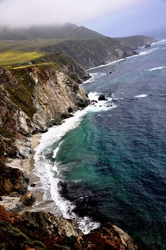 "mistymorningme: ""Sea Shore on CA-1, Carmel Highlands by iamrawat"""