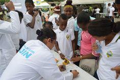 En el día nacional de la Afrocolombianidad, Policía mostró a los habitantes de Santa Cecilia la feria de servicio.