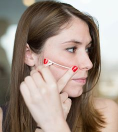 Use a cotton swab to find your cheekbones and create a guideline for easy contouring.