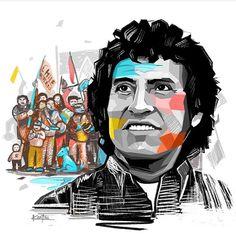 Victor Jara, Protest Posters, Chile, Pop Art, Illustration, Social, Fictional Characters, Instagram, Blog