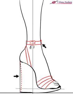 How to draw wedges in fashion design sketches tutorial step 6