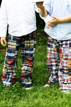Obviously my boys have coordinating madras pants. Why wouldn't they?