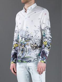 Mcq By Alexander Mcqueen Flower Print Shirt in White for Men | Lyst