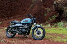 'Baja 900' Triumph Scrambler - Catrina Motosurf.   There's a lot to thank Mexico's Baja state for. Even with a mix of two and four-wheeledentrants, the Baja 1000 desert race and it's legendary'Baja Bug' VWs must have impressed even the most staunch cage haters. And that's before you get into the region's food, beaches and way laid back lifestyle. But what would you ride home once...