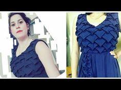 Smocking design FROCK dress girl making Origami pattern Advance method c. Frock Patterns, Smocking Patterns, Frock Dress, Dress Girl, Knitting Patterns Boys, Smocking Tutorial, Origami Patterns, Origami Dress, Stitching Dresses