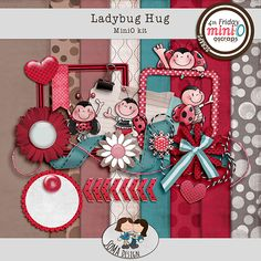 SoMa Design Ladybug Hug Kit Ladybug, Digital Scrapbooking, Hug, Gift Wrapping, Holiday Decor, Design, Gift Wrapping Paper, Lady Bug, Ladybugs
