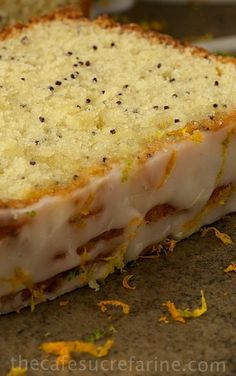 Double-glazed Citrus poppyseed lemon Tea cake