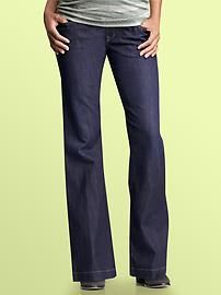 Gap maternity jeans are the ONLY ones I wore throughout my first. They are super comfortable and worth every penny.