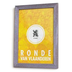 Tour of Flanders Cycling Monument Poster by HorsCategorie on Etsy
