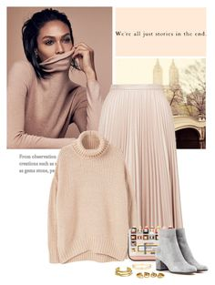 """""""Untitled#386"""" by galina-lina ❤ liked on Polyvore featuring Topshop, MANGO, Fendi, Gianvito Rossi, Jeweliq and Elizabeth and James"""