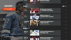 Visual and Interaction Design for Sports-Centric Internet TV Streaming