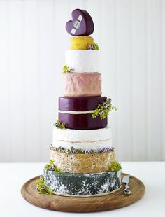 Alternative Wedding Cake Idea | The Prettiest Cheese Cake Ever! - Want That Wedding