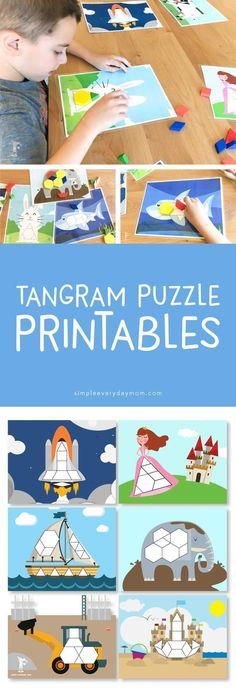 tangram printable | math activities for kids | learn shapes #mathgamesforkids #mathforchildren