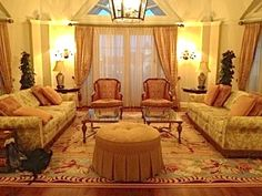 Disney's Grand Floridian's Grand Suite. With a giant-sized living, two bedrooms, two and a half baths, its balconies (there are five of them!) have various views of the  Magic Kingdom, Seven Seas Lagoon, and the Wishes fireworks show.
