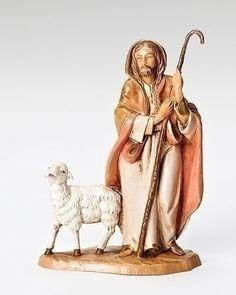 """5"""" Fontanini Good Shepherd Figurine good shepherd statue, fontanini figures, fontanini pieces, fontanini shepherds"""