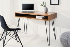 Bureau Design, Console Design, Filigranes Design, Interior Design, Design Ideas, Table Haute, Woodworking Inspiration, Desk Storage, Solid Wood Furniture