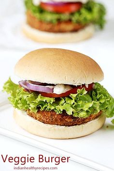 Veg burger or veggie burger recipe - Simple to make, delicious to taste! This super easy veggie burger is one of the best made with only a handful of ingredients. Veg Burger Patty Recipe, Best Veggie Burger, Burger Recipes, Veggie Burger Recipe Indian, Vegetarian Burgers, Making Burger Patties, Veggie Patties, Bbc Good Food Recipes, Indian Food Recipes