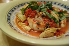 Pan Seared Cod with Artichokes and Capers (Gluten and Dairy Free) // deliciousobsessions.com #realfood #paleo #primal