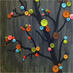 Made a button tree for my mom's birthday!