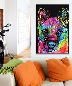 Look at this #zulilyfind! Akita Wrapped Canvas by Dean Russo #zulilyfinds