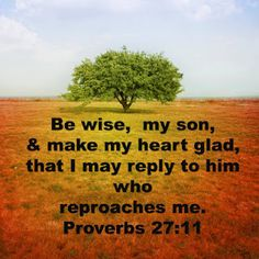 Proverbs 27:11 Proverbs 27, Godly Man, Righteousness, Christian Inspiration, Help Me, Bible, Faith, Sayings, Scriptures